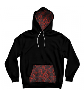 abstract pattern pocket hoodie